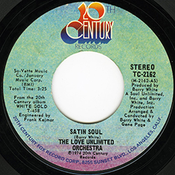 SATIN SOUL THE LOVE UNLIMITED ORCHESTRA