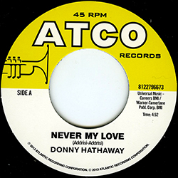 DONNY HATHAWAY NEVER MY LOVE