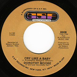 DOROTHY MOORE CRY LIKE A BABY
