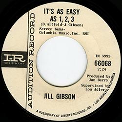 JILL GIBSON IT'S AS EASY AS 1,2,3